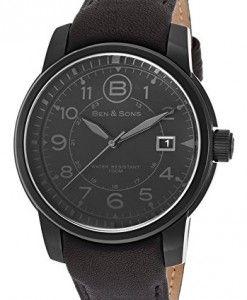 5bf64aae128 Ben-Sons-Mens-BS-10006-BB-01-GA-West-Side-Analog-Display-Quartz-Black-Watch-0