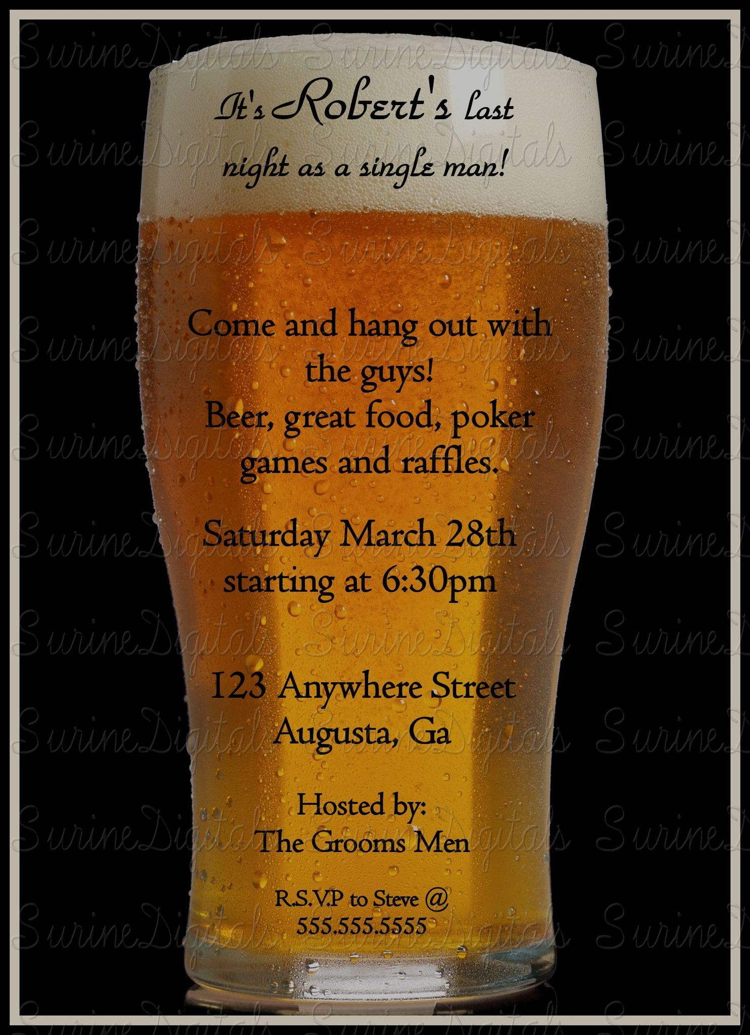 Bachelor Party invitation/ Grooms Party Invite/ Stag party ...