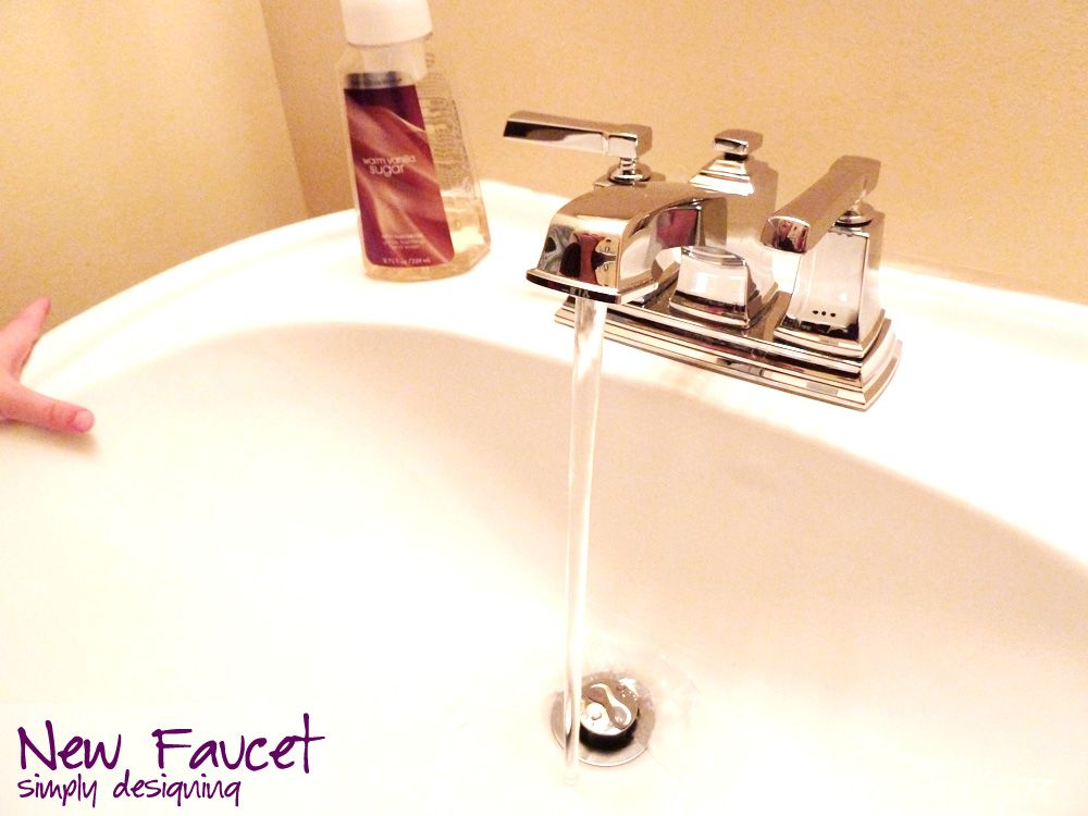 How To Install A New Faucet And Drain Moendiyer Diy Bathroom