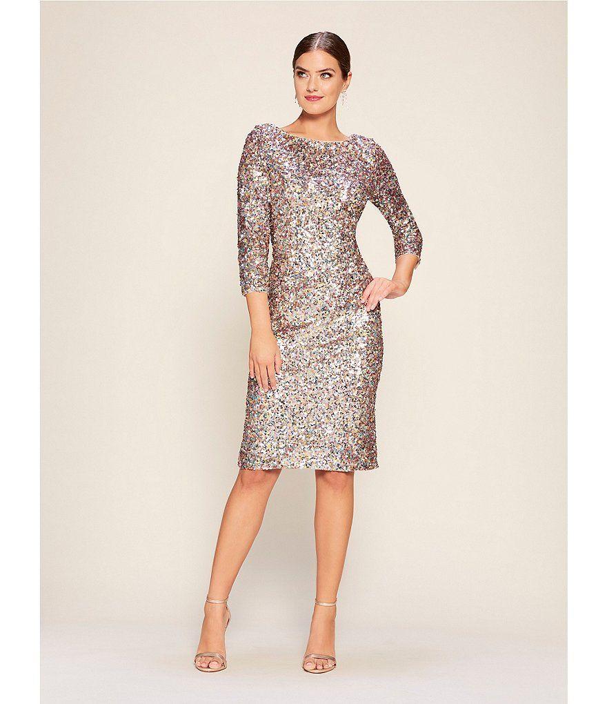 22612ba0912 Adrianna Papell Sequin Midi Sheath Dress in 2019