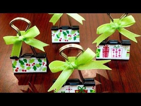 How To Make Binder Clip Place Card Holders Diy Crafts Tutorial