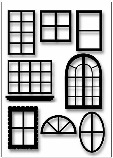window template templates color pages pinterest template window and miniatures. Black Bedroom Furniture Sets. Home Design Ideas