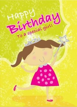 Cute Birthday Card For Little Girl Birthday Girl Kids Cards