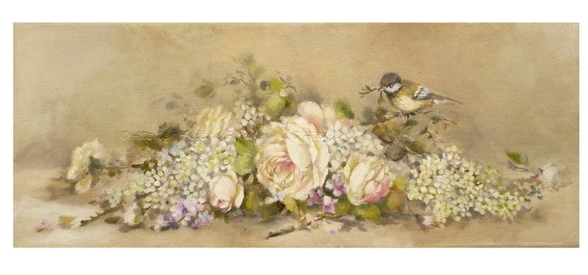 ! Roses and other seasons✿ Original paintings by Helen Flont