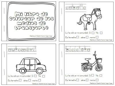 Mi libro de colorear de medios de transporte (1) | Transportation ...