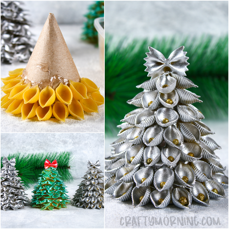 3d Pasta Christmas Trees Crafty Morning Christmas Crafts Diy Christmas Tree Crafts Christmas Crafts