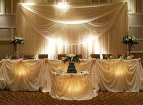 Chicago Wedding Backdrop Rental Wedding Backdrop Chicago By Ep Head Table Wedding Wedding Reception Rooms Wedding Reception Head Table