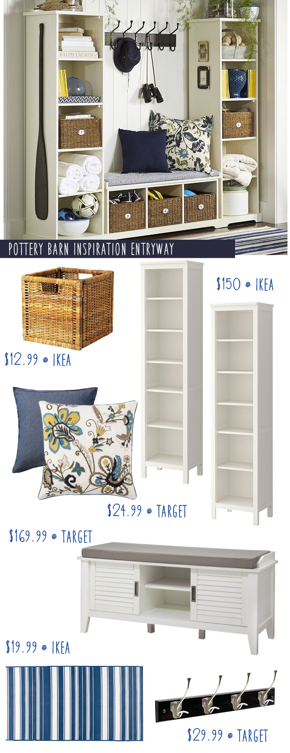 Pottery Barn Entryway Inspiration With Ikea Hacks