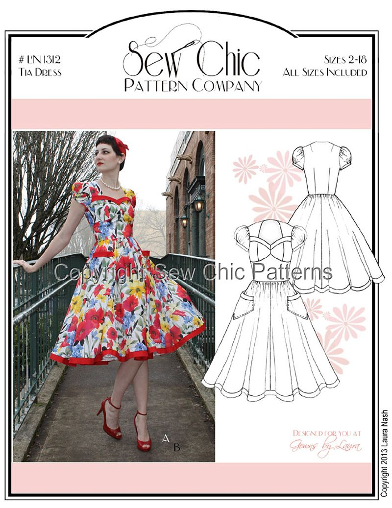 Favorite Indie Sewing Patterns: Vintage Tia Dress | Dressmaking ...