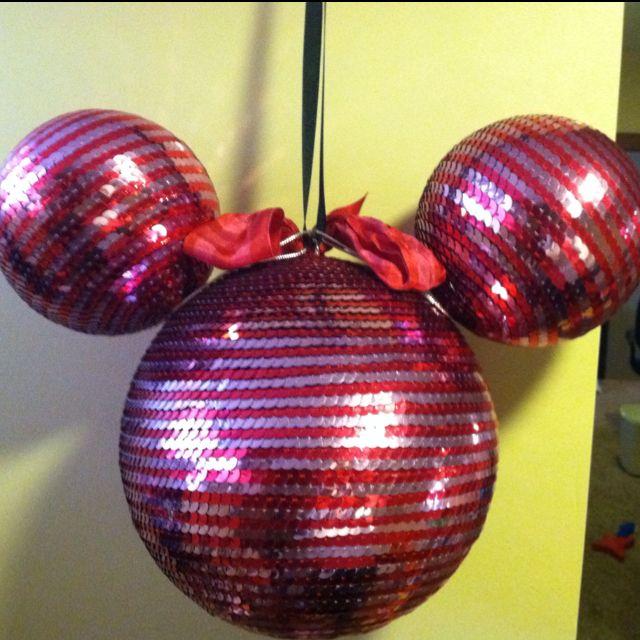 Styrofoam Balls Decorations Minnie Disco Ball Decorationstyrofoam Balls Put Together With