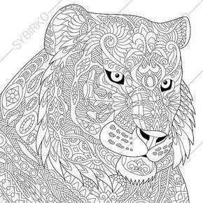 coloring pages for adults tiger lion adult coloring