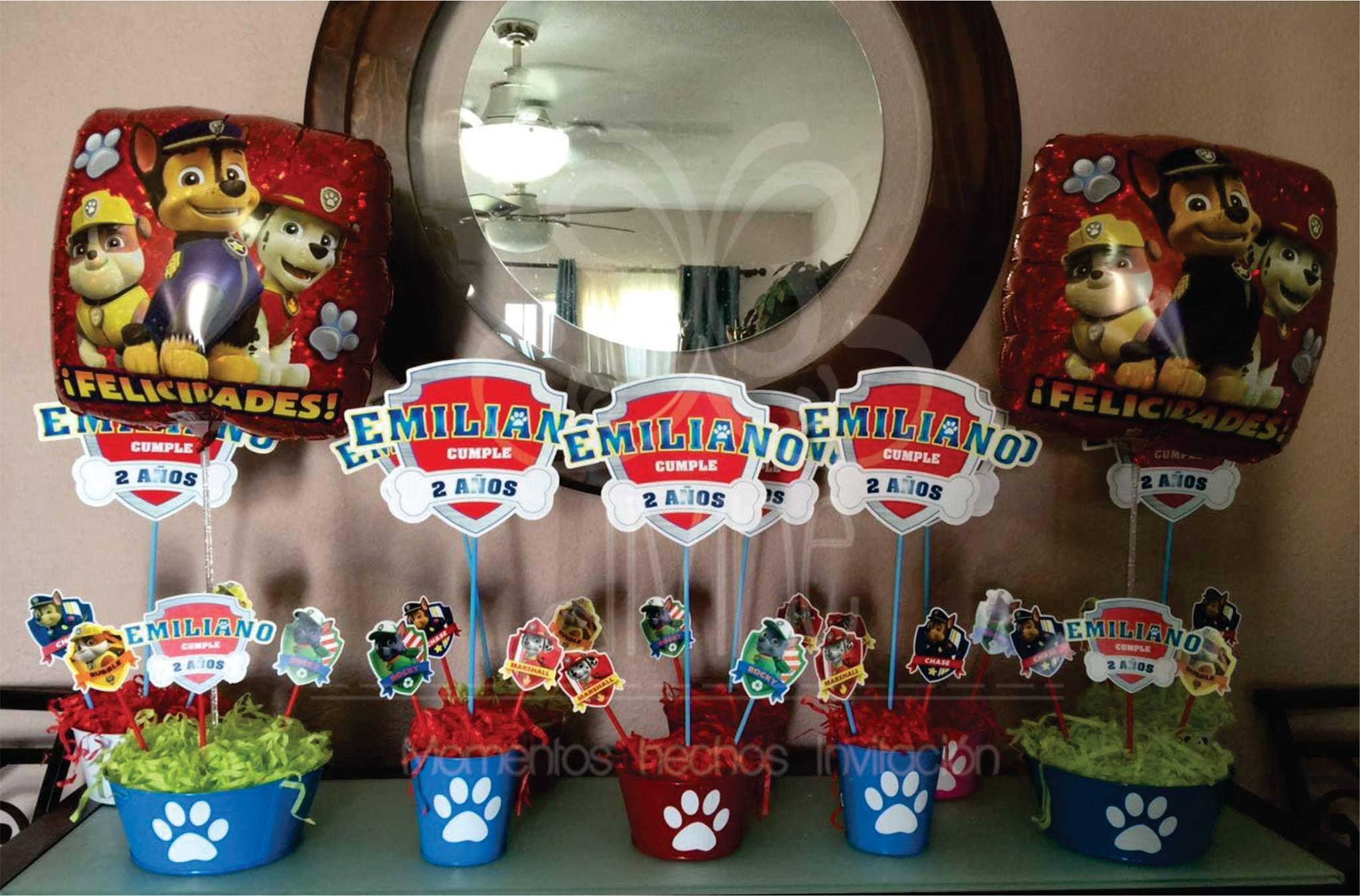 Centros de mesa paw patrol cumplea os pinterest - Mesa patrulla canina ...