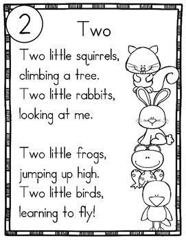 10 Number Word Poems for Shared Reading (Sight Word Poetry for New Readers)