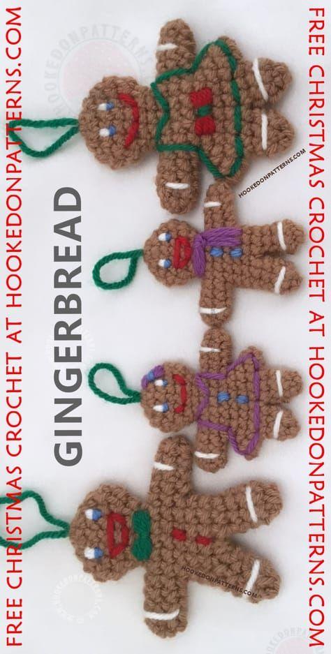 Gingerbread Man Free Crochet Pattern Amigurumi Pinterest