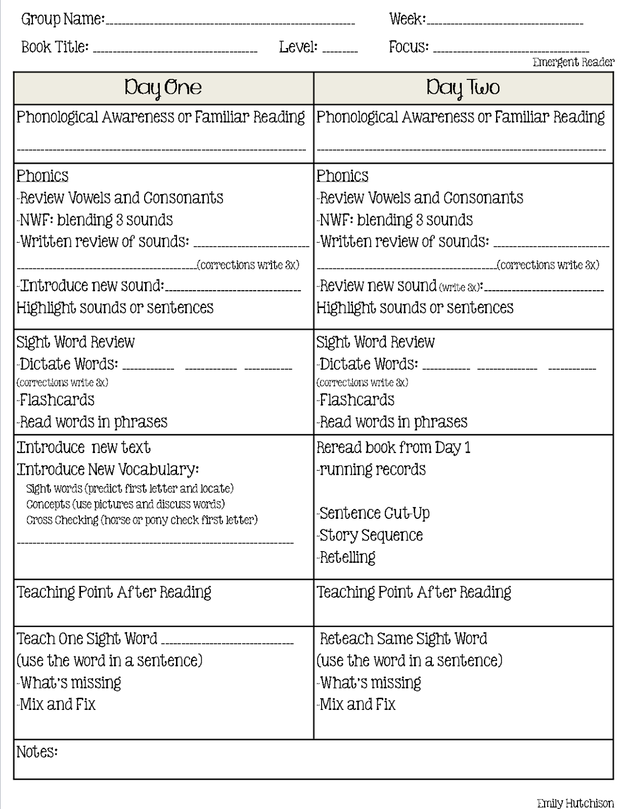reading recovery lesson plan template - guided reading format a second look curious firsties