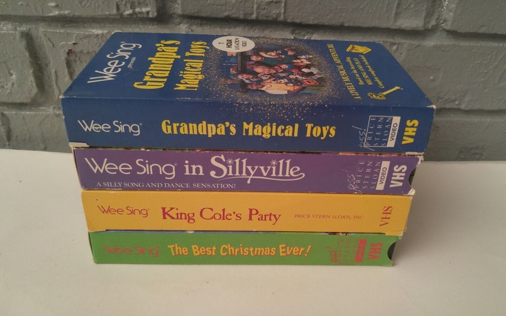 Wee Sing The Best Christmas Ever Vhs.Wee Sing Lot Of 4 Vhs Wee Sing In Sillyville King Coles