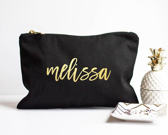 Personalized Makeup Bag Bridesmaid Gift Maid Of Honor Gift Etsy Bags Custom Makeup Bags Personalized Makeup Bags