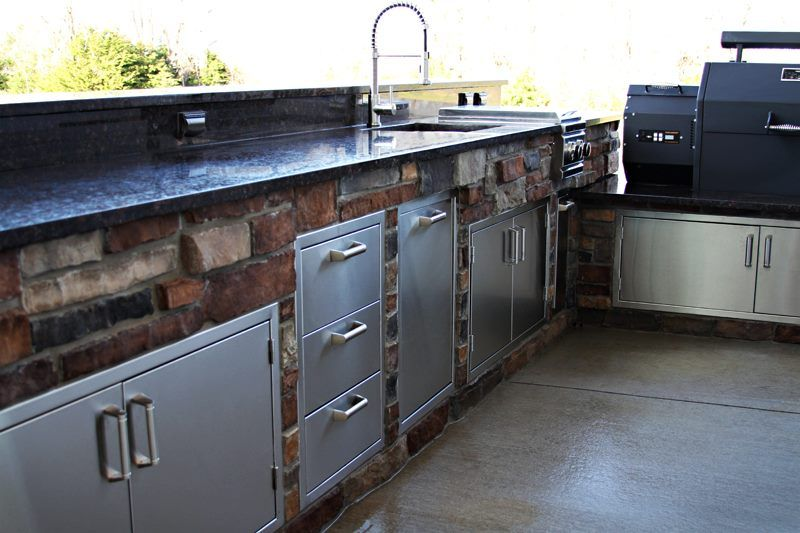 related image offset smoker outdoor kitchen new homes on outdoor kitchen with smoker id=18693