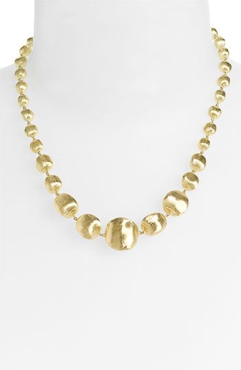 Marco Bicego 'Africa Gold' Graduated Necklace available at #Nordstrom.5980<3