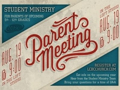Dribbble Parent Meeting by Adam Schweitzer
