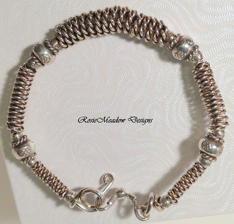 Silver twisted wire bangle bracelet | Braclets | Pinterest | Bangle ...