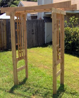 New japanese style all cedar garden arbor pergola arch for Japanese garden trellis designs