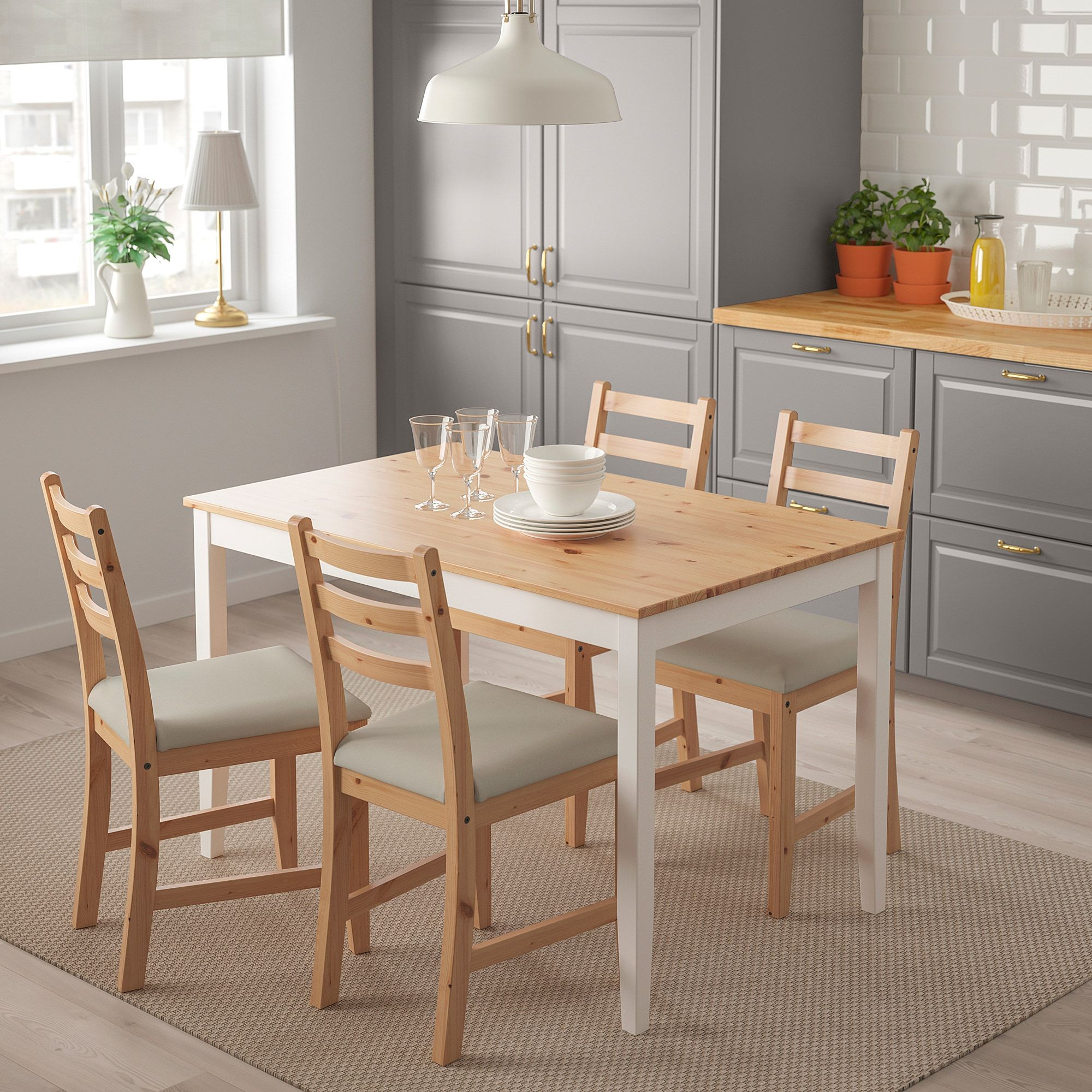 Ikea Lerhamn Chair Light Antique Stain Vittaryd Beige In