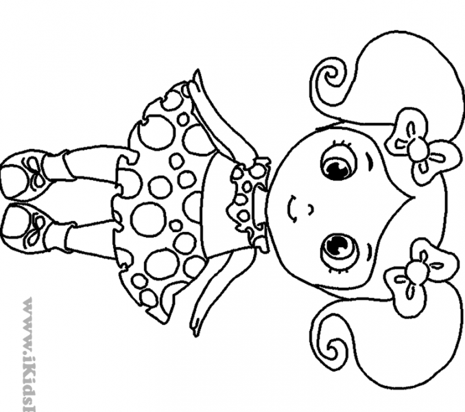Little girl coloring pages coloring pages for little girls for Coloring pages of a little girl