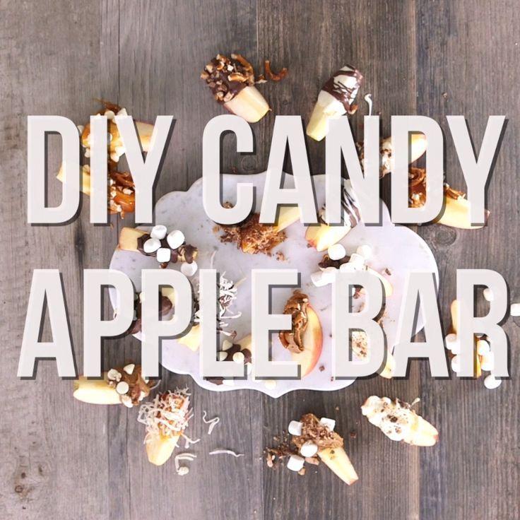 DIY Apple Dip Bar - Candy Apples DIY Wedding Inspirations - halloween diy ideas