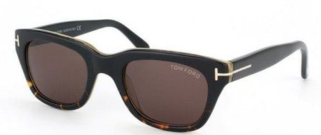 442f4d3fab Amazon.com  Tom Ford Sunglasses - Snowdon   Frame  Shiny Black with Brown  Lens  Grey Gradient  Tom Ford  Clothing