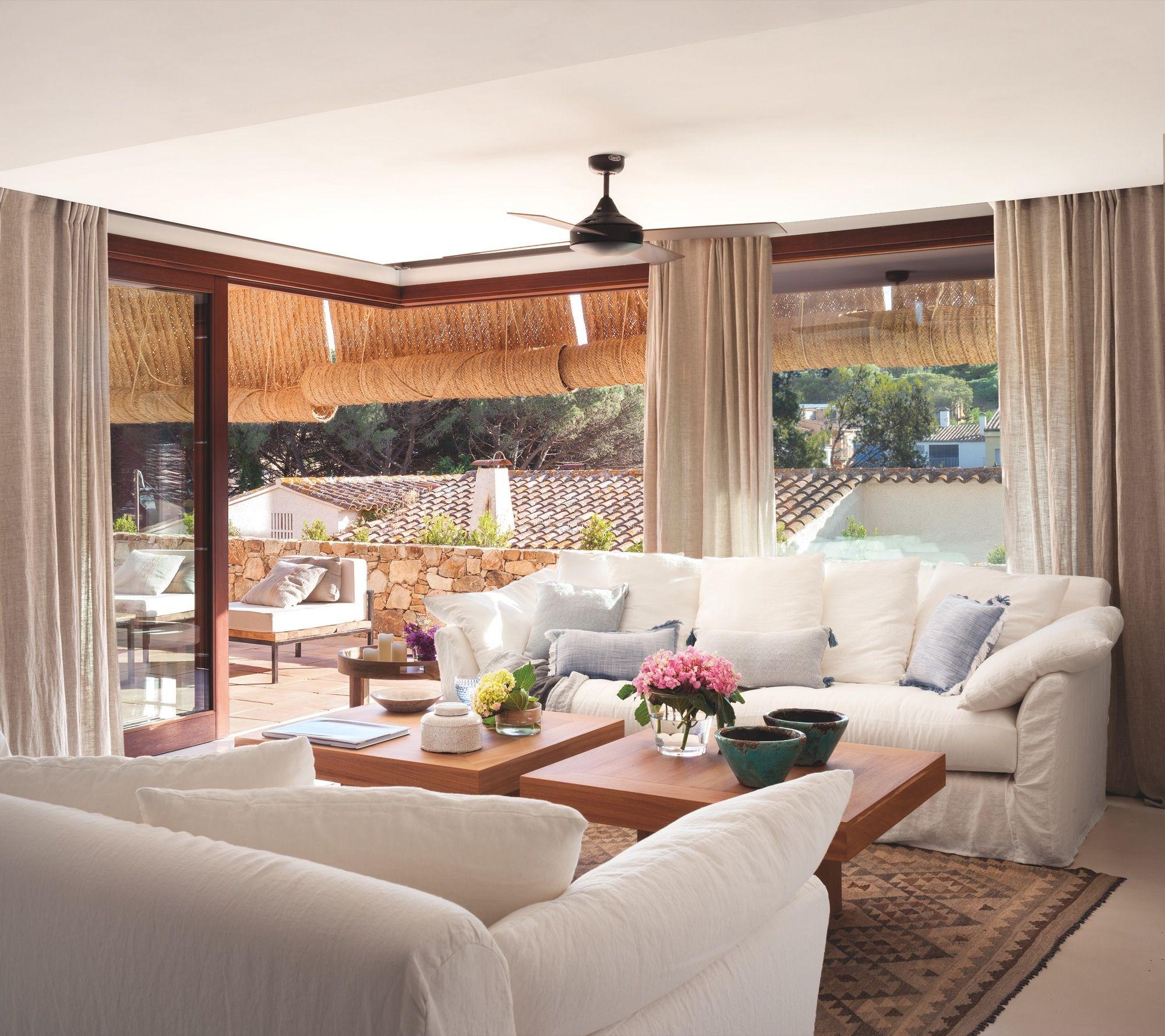 Casa de vacaciones con estilo ibicenco playero y toques de - Decoracion con estilo ...