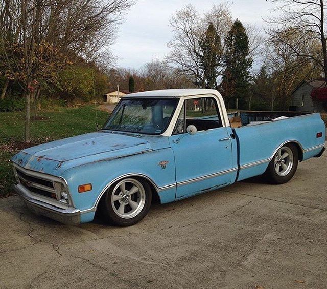 Love The Stance On This 68 C10 With Images Chevy C10 C10