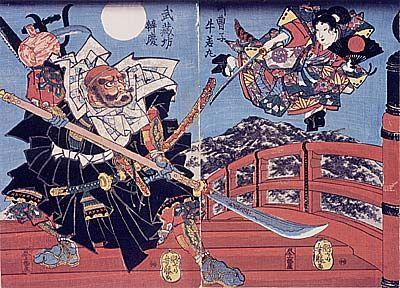 牛若丸と弁慶の物語 の虚構 牛若丸 サムライアート アートのアイデア