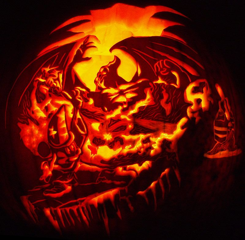 A Love For Carved Pumpkins And Jack O Lanterns, That Is. Here You Will Find  100 Amazing Pumpkin Carvings With Links Back To The Place Where I ... Part 98