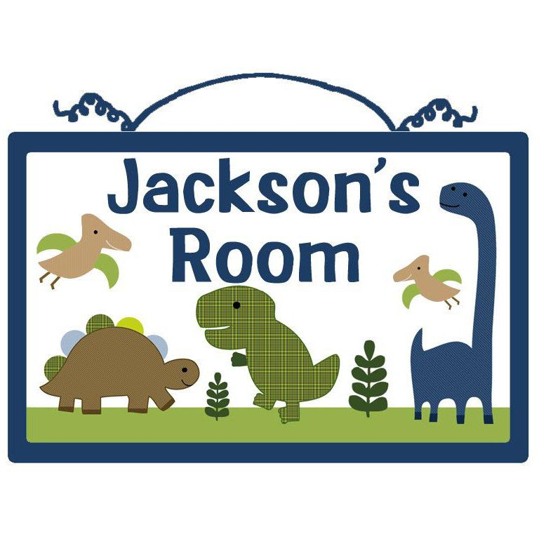 Personalized (Adorable Dino/ Dinosaurs) Wood Sign/Plaque. $19.99, via Etsy.