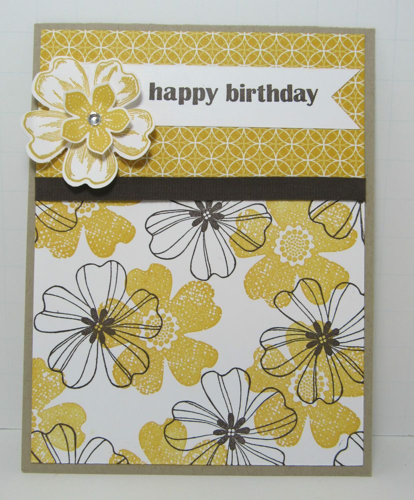 Stampin' Up! HAPPY BIRTHDAY CARD KIT, Flower Shop Crushed Curry - Set of 4 Cards #stampin#39;up!cards