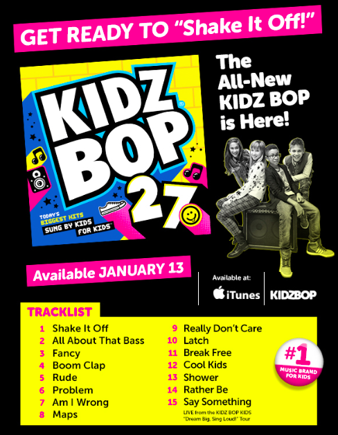 Kidz Bop 27 Shake It Off Available Now For 14 95 Free T Shirt Debt Free Spending Kidz Bop Music For Kids Kids Bop I can make your hands clap. pinterest