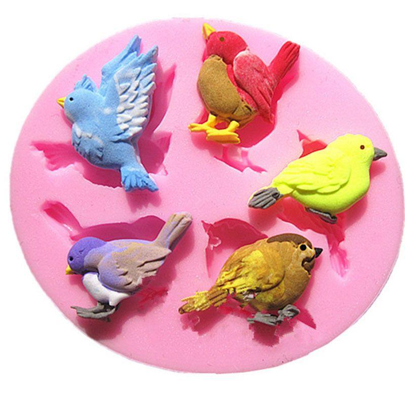 3D Bird Silicone Fondant Mould Cake Chocolate DIY Baking Mold Decoration Tool