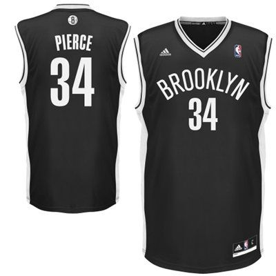 14b87bd7ba156 adidas Paul Pierce Brooklyn Nets Replica Player Jersey - Black ...