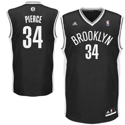 brand new a07f3 1a206 adidas Paul Pierce Brooklyn Nets Replica Player Jersey ...
