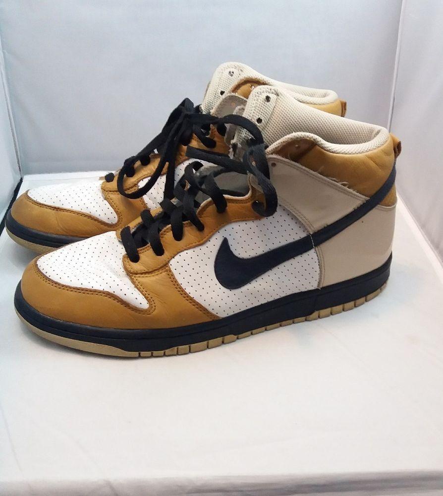 ... NIKE DUNK HIGH PREMIUM WHITE OBSIDIAN NET WHEAT 306968-141 SIZE 11 Nike  ... b45b18c19