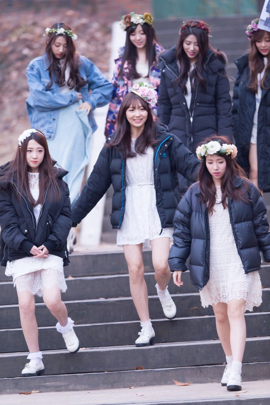 Lovelyz Proud Of Them And Wooliment For Their Fist Girl Group Lovelyz Fighting Kpop Girls South Korean Girls Kpop Girl Groups