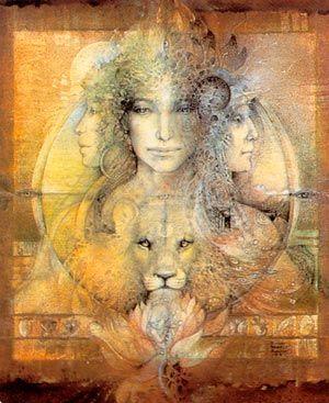 Goddess Knowledge Cards - Triple Goddess  Illustrations de Susan Seddon Boulet