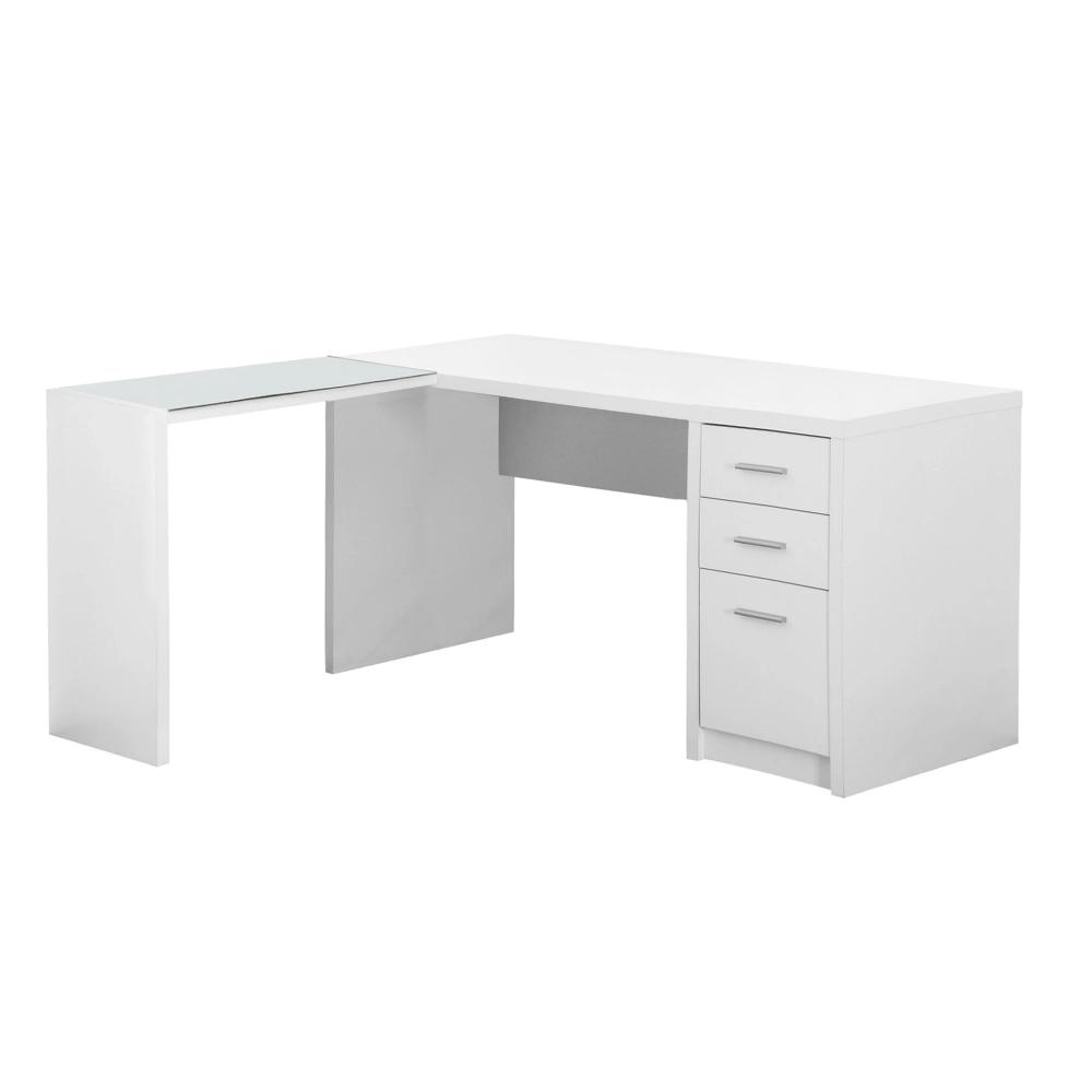 Modern 60 L Shaped White Office Desk In 2020 White Desk Office White Corner Desk Home Office Desks
