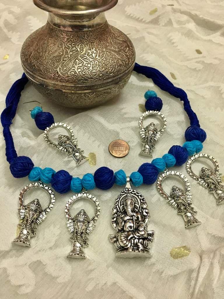Ganesha silver necklace set elegant necklaces pinterest silver
