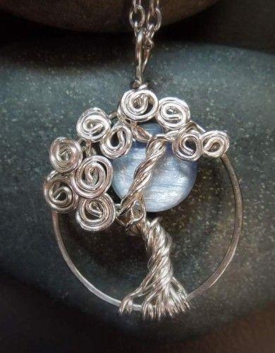 Kyanite blue moon tree of life pendant necklace sterling silver kyanite blue moon tree of life pendant necklace sterling silver vixensnaturaljewelry jewelry on artfire aloadofball Images