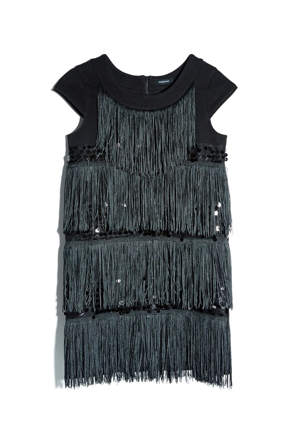 Fringe Ponte & Pailette Dress | GUESS by Marciano Girls #GUESSKids #MarcianoGirls