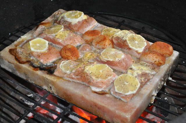 Big T S Big Green Egg Recipe Blog Himalayan Salt Block Salmon Himalayan Salt Block Recipes Salt Block Cooking Salt Block Recipes