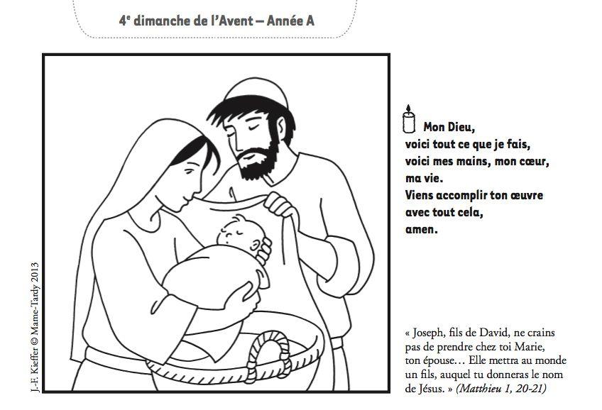 Un dessin de Kieffer pour le quatrième dimanche de l'Avent ...