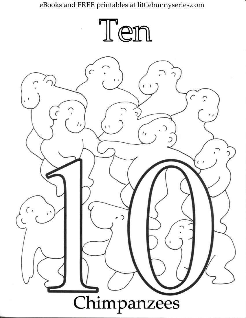 Number 10 Coloring Page Pdf Letter A Coloring Pages Free